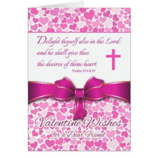 Cartes Valentine pour l'ami, 37:4 de psaume d'écriture