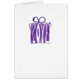 Cartes valentine pourpre de cadeau