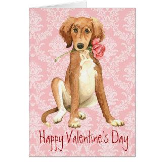 Cartes Valentine Saluki rose