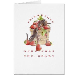 Cartes Valentine/tamia de fraise
