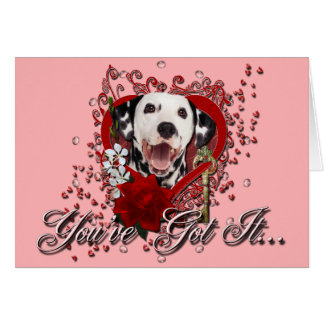 Cartes Valentines - clé à mon coeur - Dalmate