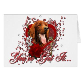 Cartes Valentines - clé à mon coeur - poseur irlandais
