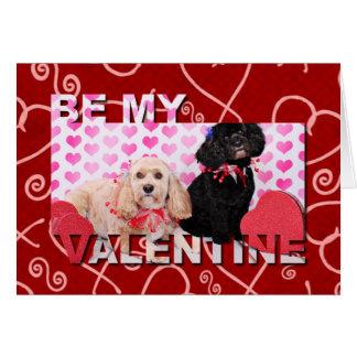Cartes Valentines - Cockapoo - Ella et Lilo