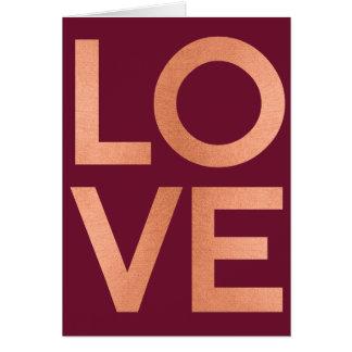 Cartes Valentines roses de Bourgogne de typographie