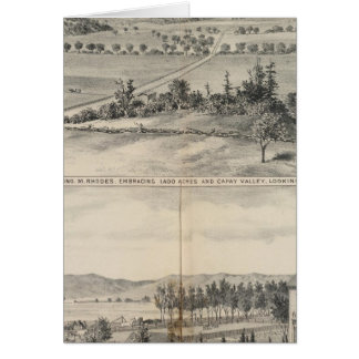Cartes Vallée de Capay, ferme de Harlan