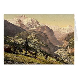 Cartes Vallée de Lauterbrunnen et Wengen, Bernese