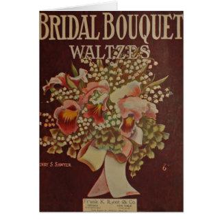 Cartes Valse nuptiale de bouquet