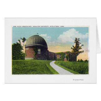 Cartes Van Vleck Observatory d'université wesleyenne