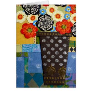 Cartes Vase à point de polka