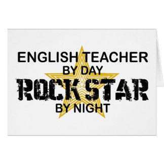 Cartes Vedette du rock de professeur d'Anglais