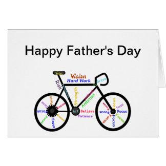 Cartes Vélo de motivation, bicyclette, fête des pères de