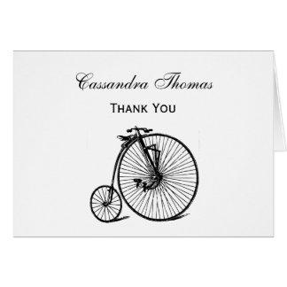 Cartes Vélo vintage de bicyclette de vélo sur rail de