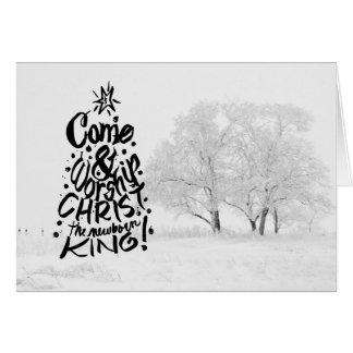 Cartes Venez adorer le Christ le roi nouveau-né
