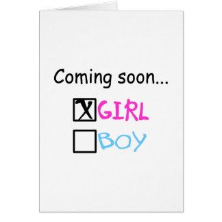 Cartes Venez bientôt… (Fille)