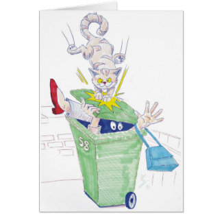 Cartes Vengeance du chat de poubelle de wheelie !