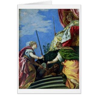 Cartes Venise a couronné entre la justice et la paix