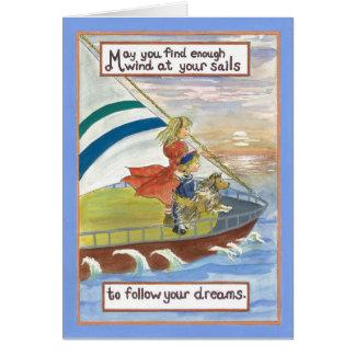 Cartes Vent d'art de Sheltie à vos voiles