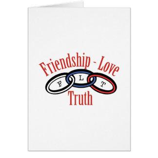 Cartes Vérité d'amour d'amitié