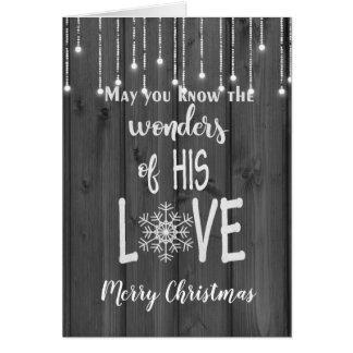 Cartes Vers inspiré de Noël sur le bois noir