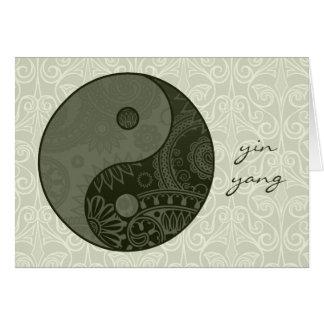 Cartes Vert sauge modelé de Yin Yang