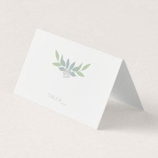 Cartes vertes d'endroit de feuillage - pliées