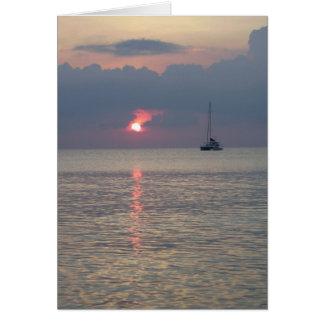 Cartes Verticale de coucher du soleil d'Aruba