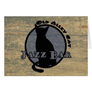 Cartes Vieille barre de jazz de chat d'allée