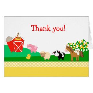Cartes Vieille Merci plié de MacDonald EIEIO par
