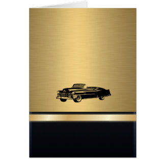 Cartes vieille voiture vintage d'or impressionnante de