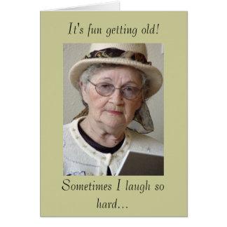 Cartes Vieillissement drôle obtenant le vieil
