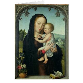 Cartes Vierge et enfant (huile sur le panneau)