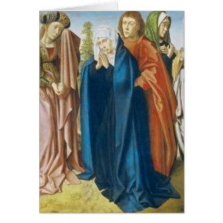 Cartes Vierge Marie avec St John l'évangéliste