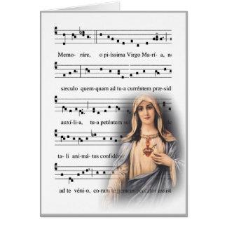 Cartes Vierge Marie grégorien musique de Memorare de