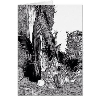Cartes vierges de note, belle conception noire et