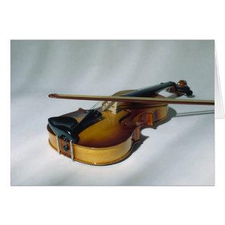 Cartes vierges de note de violon
