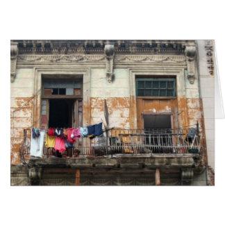 Cartes vieux balcon de la Havane