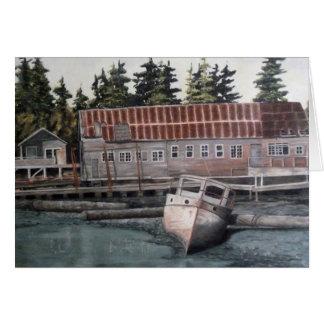 Cartes Vieux bateau de péniche et de pêche