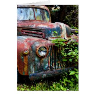 Cartes Vieux camion antique rouillé