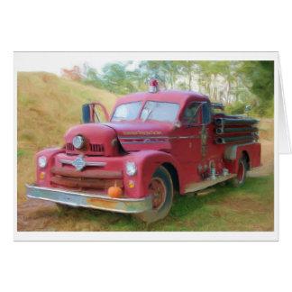 Cartes Vieux camion de pompiers