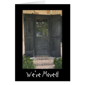 Cartes Vieux changement d'adresse de porte en bois