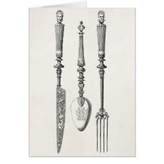 Cartes Vieux couverts de 1800s de couteau de fourchette