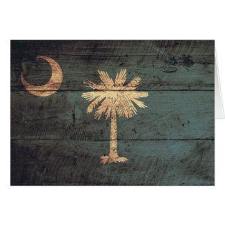 Cartes Vieux drapeau en bois de la Caroline du Sud ;