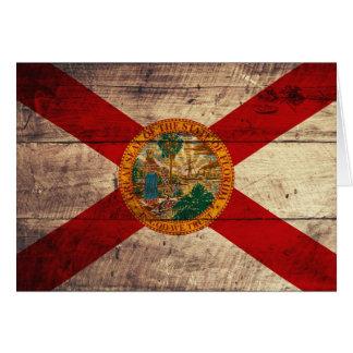 Cartes Vieux drapeau en bois de la Floride ;