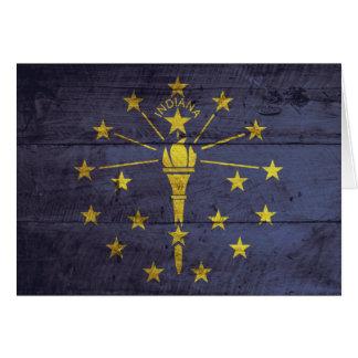 Cartes Vieux drapeau en bois de l'Indiana