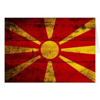 Cartes Vieux drapeau en bois de Macédoine