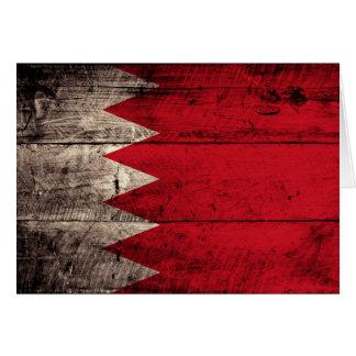 Cartes Vieux drapeau en bois du Bahrain