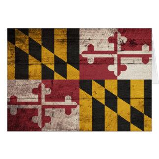 Cartes Vieux drapeau en bois du Maryland