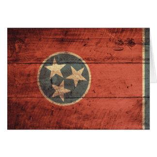 Cartes Vieux drapeau en bois du Tennessee ;