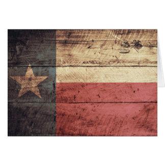 Cartes Vieux drapeau en bois du Texas
