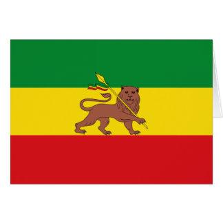 Cartes Vieux drapeau éthiopien